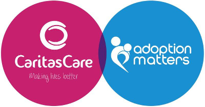adoption matters and caritas care logo