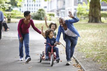Family fun on go cart