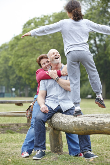 Mum, dad and daughter – balancing act!