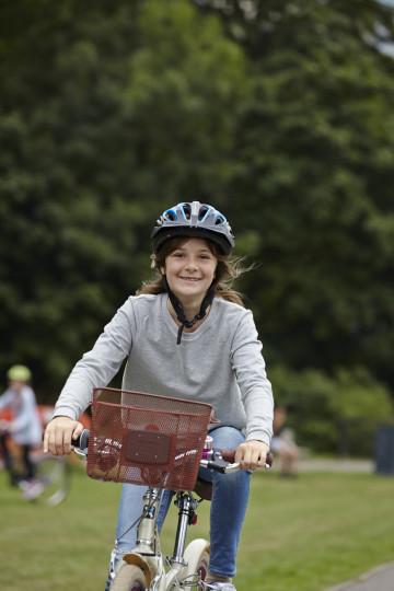 Girl enjoying cycle ride