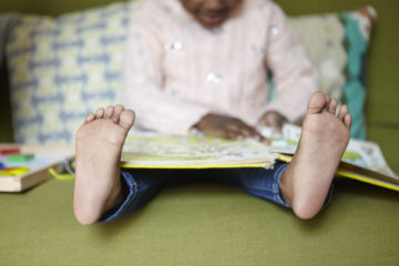 Little feet reading