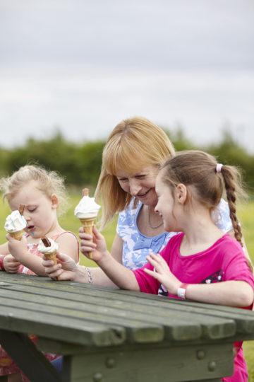 Ice cream on bench