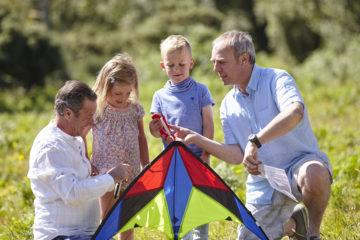 Family with kite