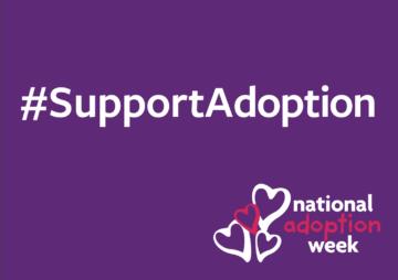 #SupportAdoption Placard
