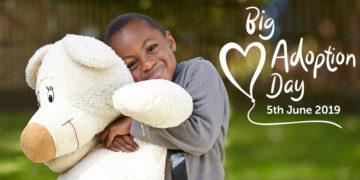 Big Adoption Day Social Media Post – Boy with teddy bear