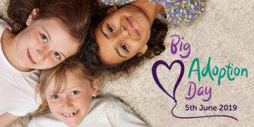 Big Adoption Day Social Media Post – Girls lying down in a circle
